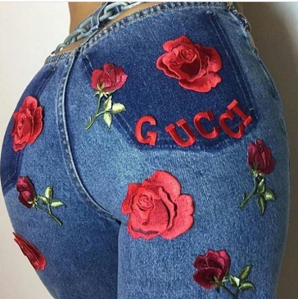 Jeans baddies gucci skinnyjeans pants lavish rose gucci jeans baddies gucci skinnyjeans pants lavish rose gucci jeans roses flowers embroidered jeans blue flowers flower ccuart Images