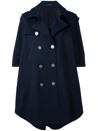 coat women spandex cotton blue