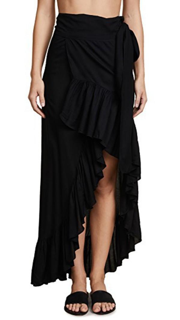 TIARE HAWAII Tulip Wrap Skirt in black