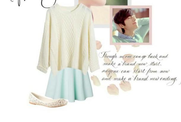 skirt pastel spring cute mint green skirt kpop