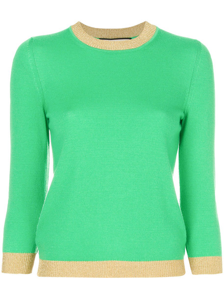 gucci sweater metallic women silk knit green