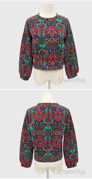sweater pullover aztec tribal pattern geometric streetstyle