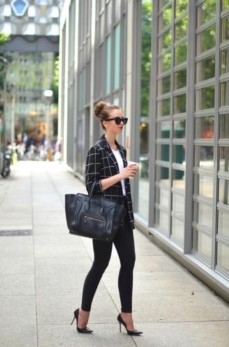 vogue haus blogger top jeans jacket shoes bag jewels sunglasses