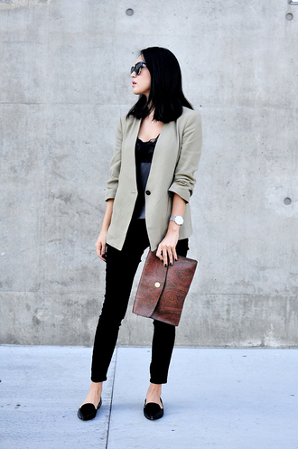 her imajination blogger jewels sunglasses pouch blazer flats