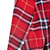 Red Lapel Long Sleeve Plaid Print Crop Blazer - Sheinside.com