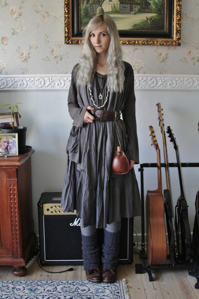 dress grey dress person gandalf tumblr long sleeve dress