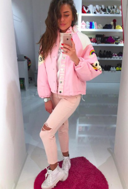Jacket japan pink korean fashion japanese fashion spring outfits colorful girly cute ...