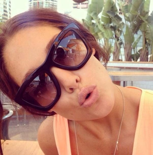 sunglasses black brown sunglasses girly cute summer sunglasses