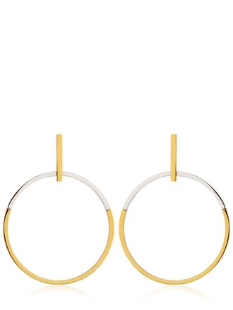 earrings hoop earrings gold silver jewels