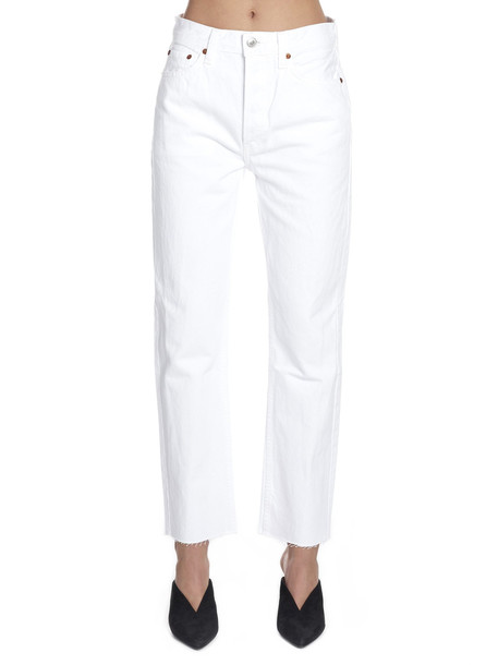 Re/done 'stove Pipe' Jeans in white