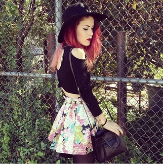 skirt luanna perez floral skirt top