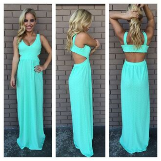 dress prom blue maxi open back