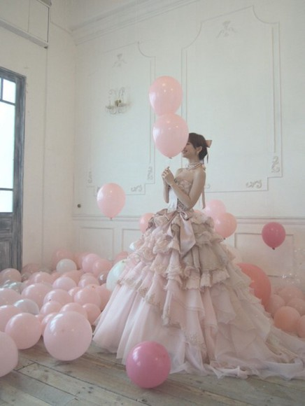 frills princess dress poofy ball gown stunning