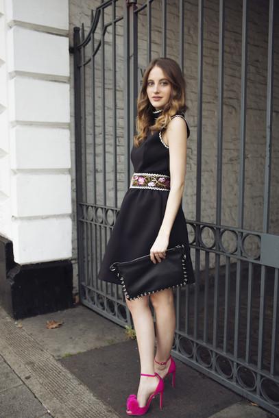 1c6500384e28 ... Pink Heels. At Fashion Forte Ger Belted Dress Little Black