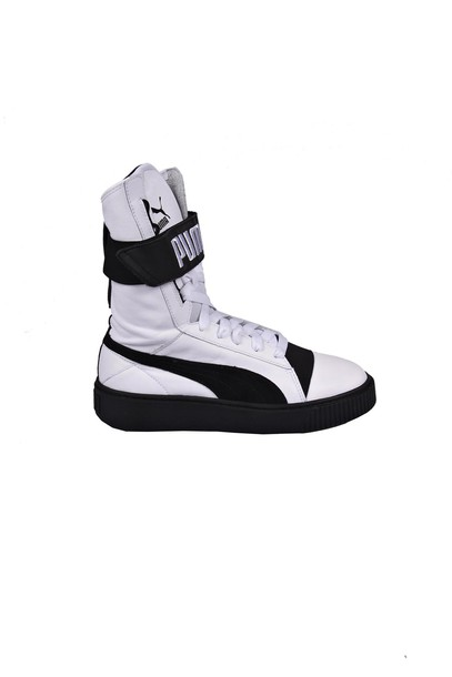 boot sneakers white black shoes