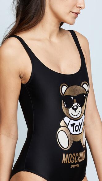 graphic swimsuit bear black swimwear