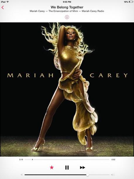dress gold long dress mariah carey