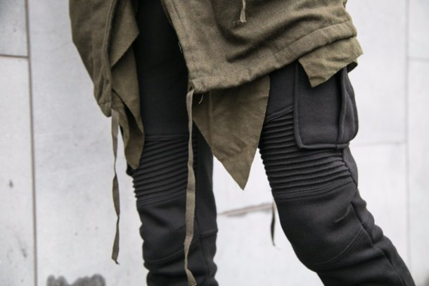 Pants: black, menswear, skinny, urban menswear, mens pants, mens ...