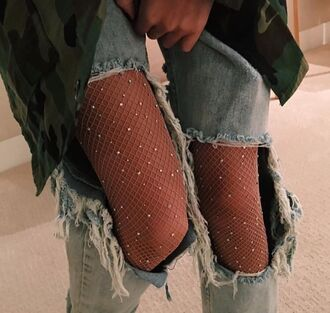 tights sparkle see through glitter pretty dress up fancy ripped jeans grunge tumblr