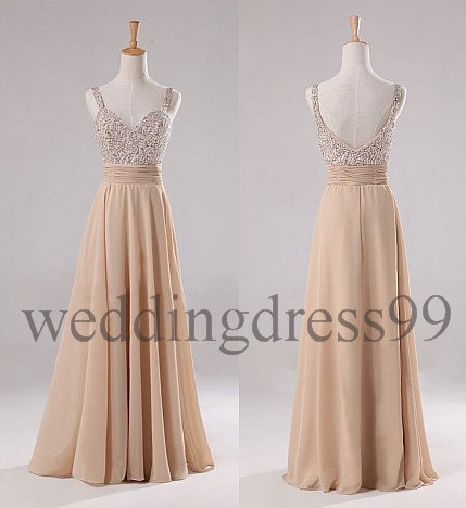 Custom Beaded Long Fashion Prom Dresses by weddingdress99 ... - photo #18