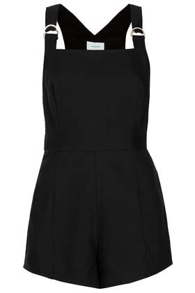 **Eyespy Dungaree Playsuit with Zip Detail by Jovonna- Topshop