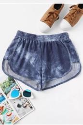 shorts,girly,girly wishlist,short,tie dye shorts,tie dy