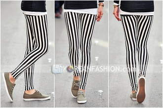 jeans black white vertical stripes