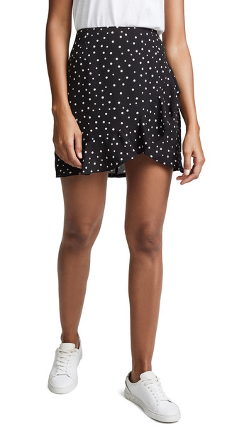skirt wrap ruffle skirt ruffle black