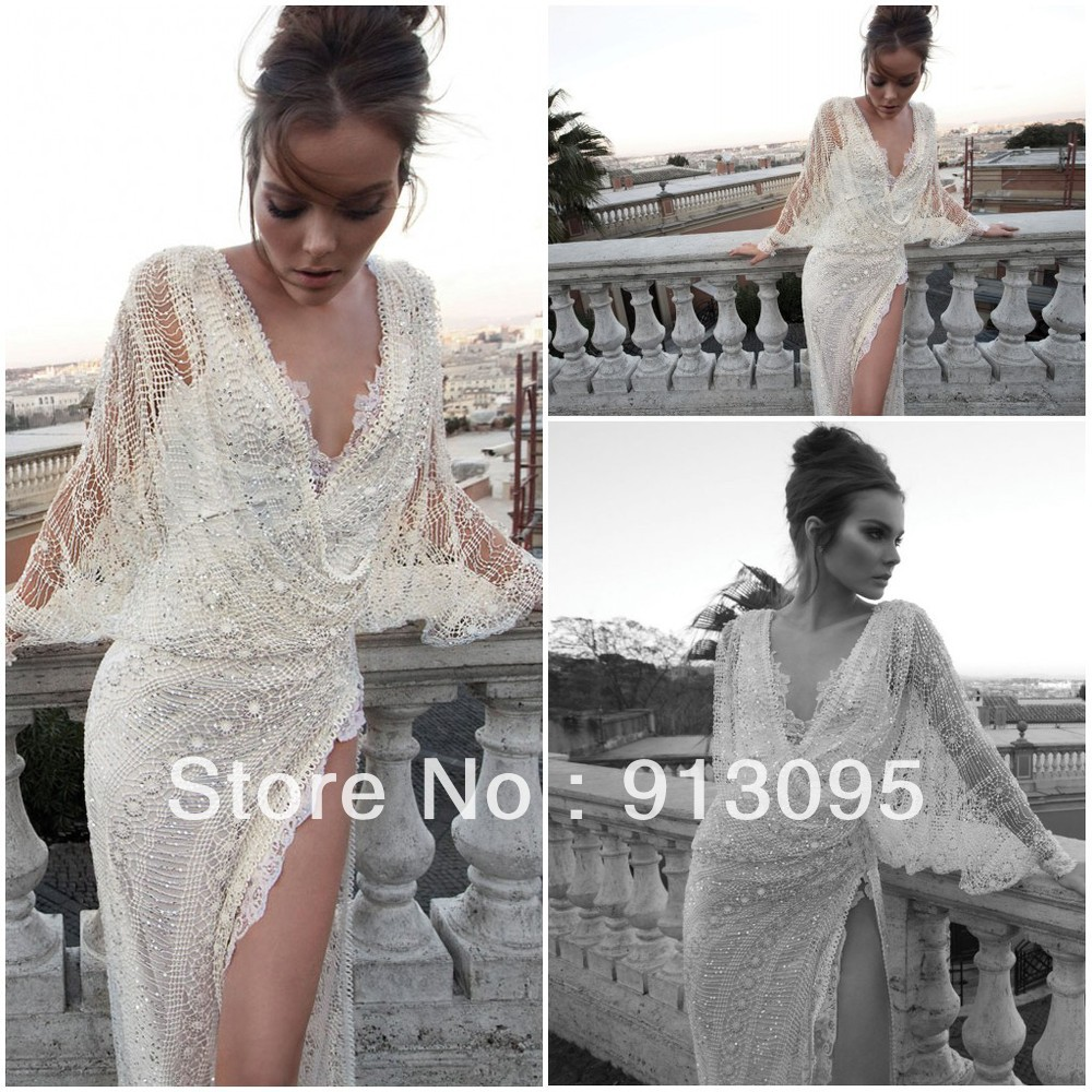 Free shipping Vintage Classic Inbal Dror lace wedding dresses 2013 new design Bridal gowns custom made Inbal Dror-in Wedding Dresses from Apparel & Accessories on Aliexpress.com