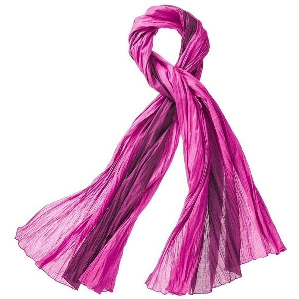 Global Girlfriend Dip Dyed Cotton Scarf - Pink - Polyvore