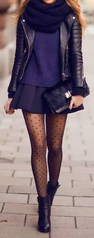 skirt collants perfecto pull pochette