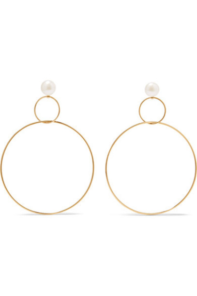 Natasha Schweitzer pearl earrings hoop earrings gold silver jewels