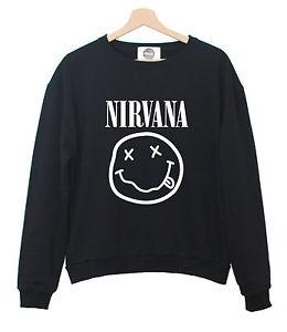 Nirvana sweater t shirt smile womens grunge punk music band hipster tumblr swag