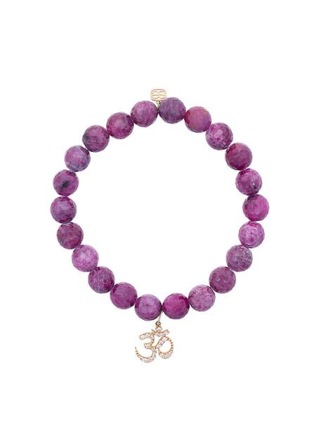 sydney evan beaded bracelet women beaded gold red jewels