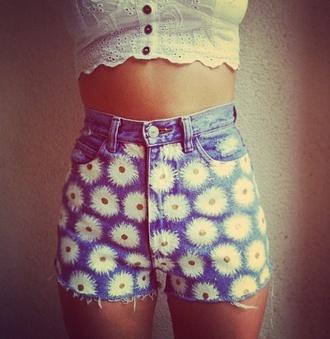 shorts daisy california summer fun beach