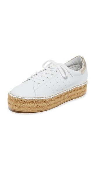 sneakers platform sneakers gold white shoes