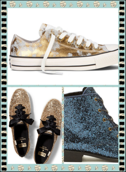 shoes sparkle gold