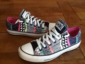 shoes,converse,colorful,beautiful,pattern,aztec,chuck taylor all stars,sneakers