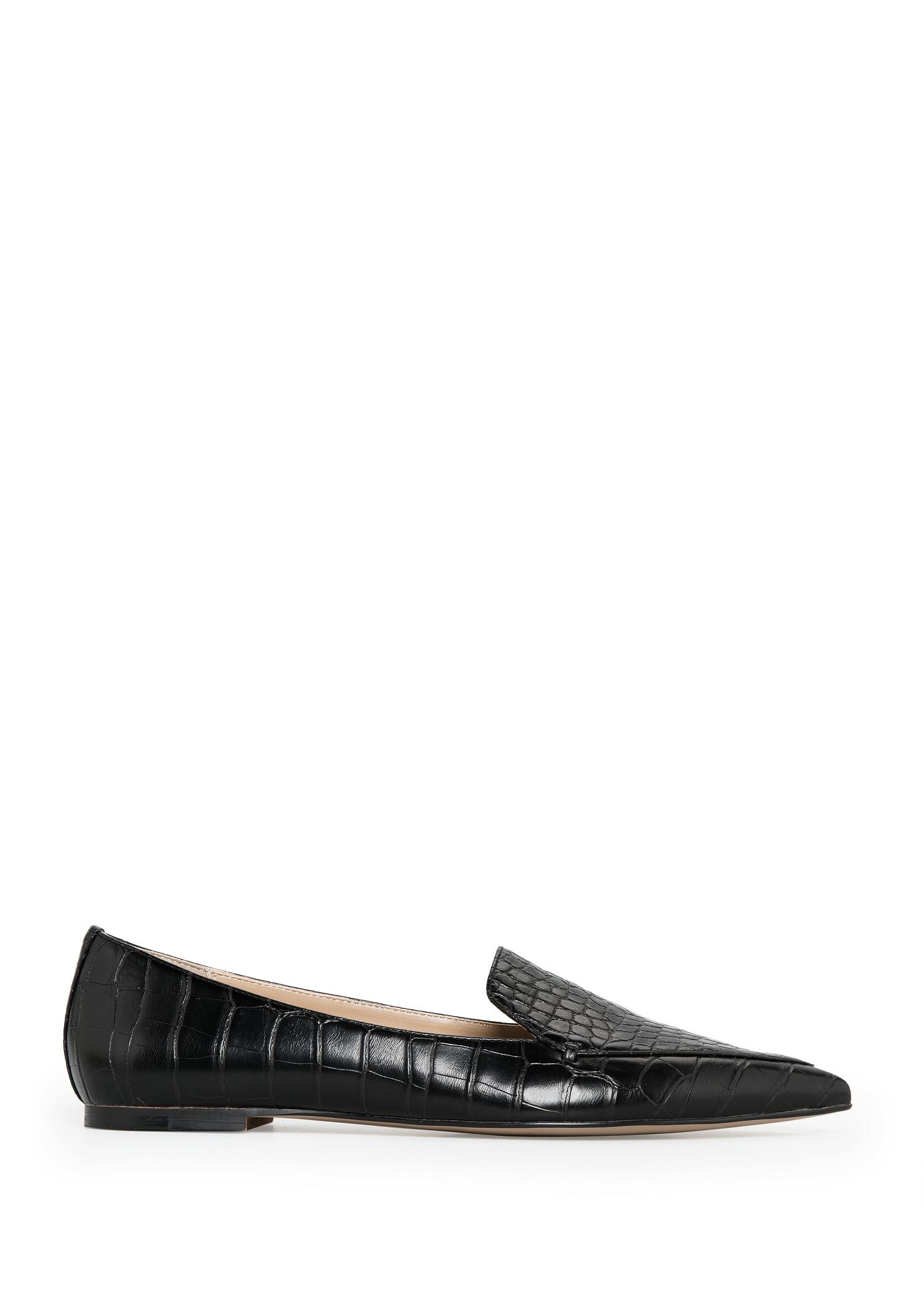 Puntslippers van krokodillenleer - Schoenen voor Dames   MANGO