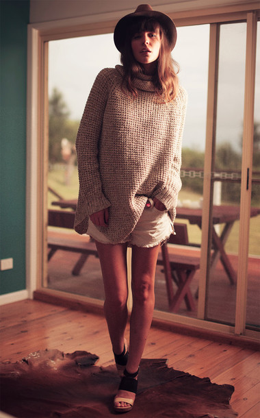 sbstnc blogger sweater shorts hat shoes