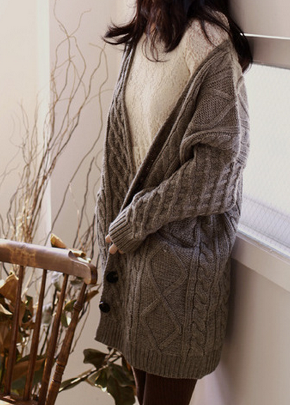 Cute hot grey cardigan