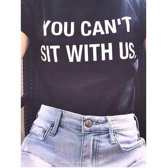 shirt mean girls www.ebonylace.net skirt mean girls shirt mean girls quote you cant sit with us funny t-shirt