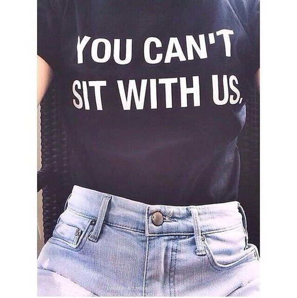 mean girls funny skirt mean girls shirt mean girls quote you cant sit with us shirt