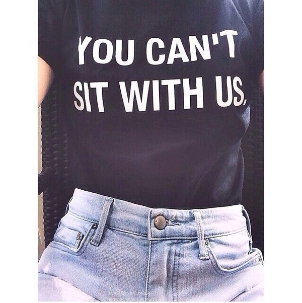 shirt mean girls www.ebonylace.net t-shirt skirt mean girls shirt mean girls quote you cant sit with us funny blouse