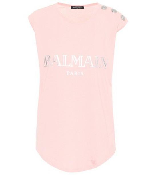 Balmain top cotton pink