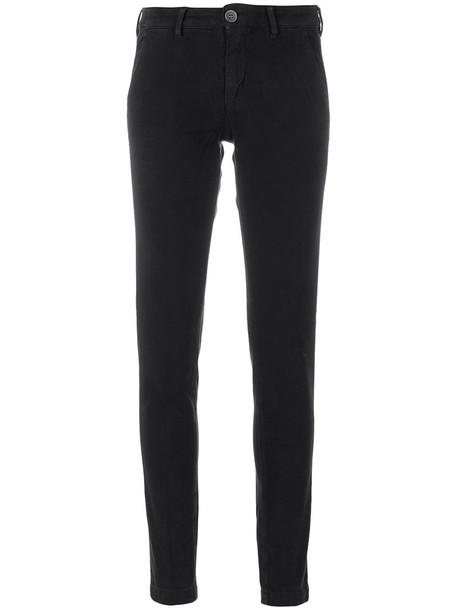 women spandex fit cotton blue pants