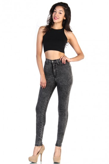 LoveMelrose.com From Harry & Molly | HIGH WAISTED JEANS-BLACK