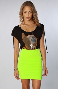 FASHIFY – NYC Boutique Neon Green Mini Skirt