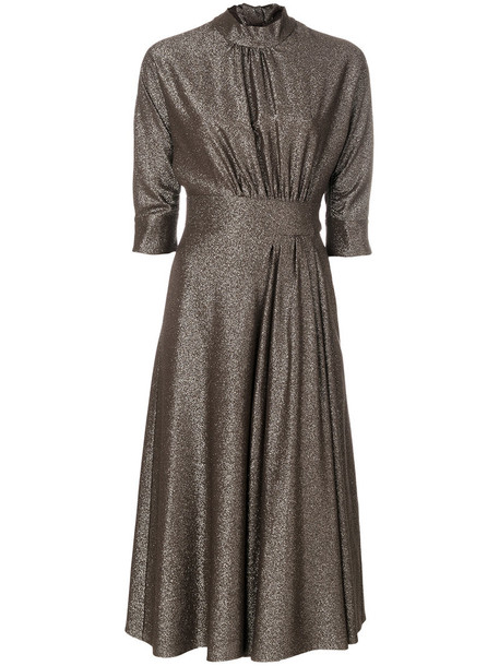 Prada dress high women silk brown