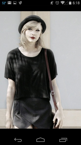 taylor swift skorts black